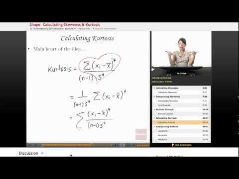 Statistics: Kurtosis
