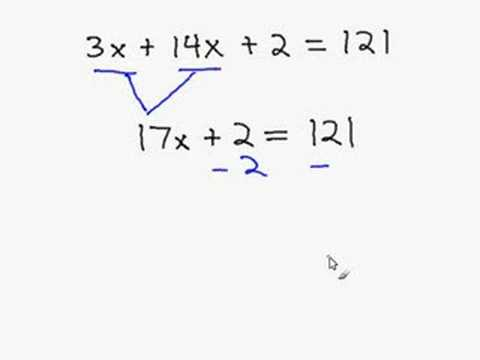 Solving an Equation by Combining Like Terms