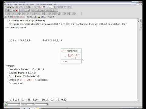 Standard deviation: intuition and hand computation