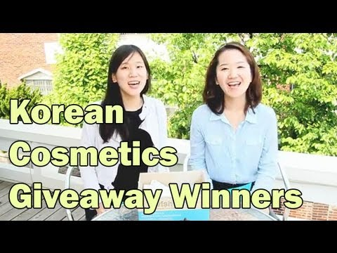 Winners of Korean Cosmetics Giveaway with WishTrend