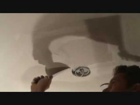 "Repairing Drywall: Installing the last coat of ""quickset"" to a drywall repair"