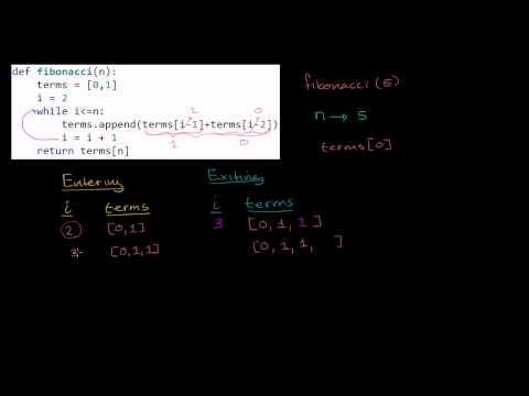 Stepping Through Iterative Fibonacci Function