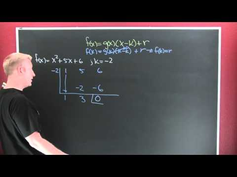 The Remainder and Factor Theorems.mov