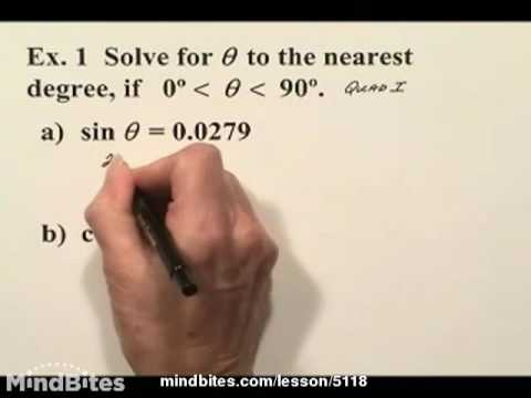 Trig: Solving 1st Degree Trig Equations