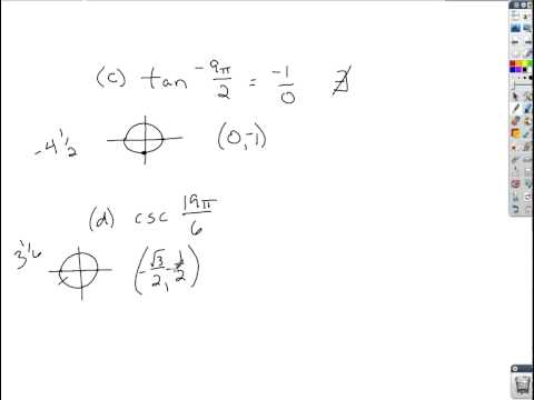 Trigonometry - Using the Unit Circle to Find Exact Values of Trig Functions