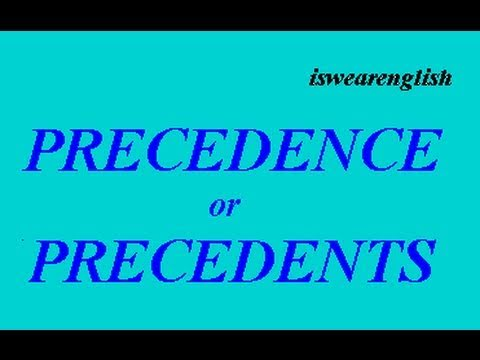 Precedence  or Precedents - The Difference - ESL British English Pronunciation