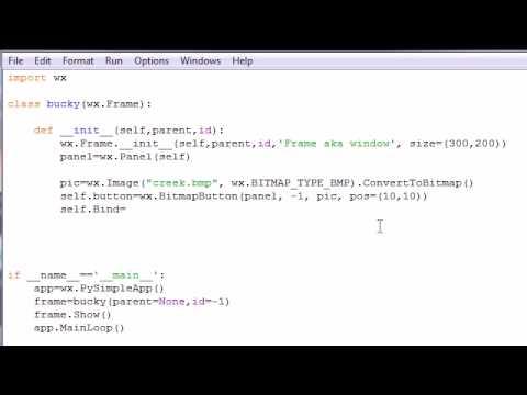 wxPython Programming Tutorial - 9 - Custom Bitmap Buttons