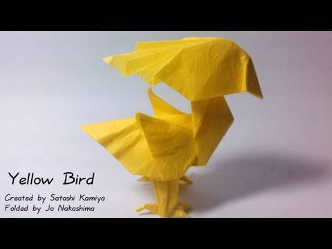 Origami Yellow Bird - Chocobo (Satoshi Kamiya) - not a tutorial
