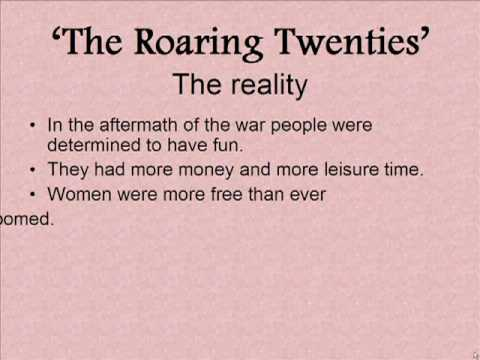 Schmidt Notes - US History - Unit 4 - Intro - Roaring 20's