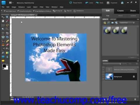 Photoshop Elements 9.0 Tutorial Introduction to Photoshop Elements Adobe Training Lesson 1.1
