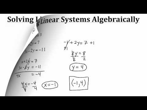 Systems of Equations -- Two Linear Variables