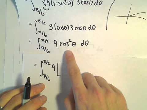 Trigonometric Substitution + U-Sub, Definite Integral
