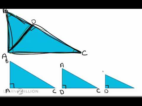 Prove the Pythagorean Theorem using similar triangles - G-GPE.1