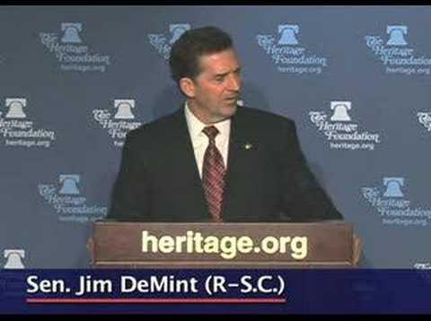 Sen. Jim DeMint on program spending