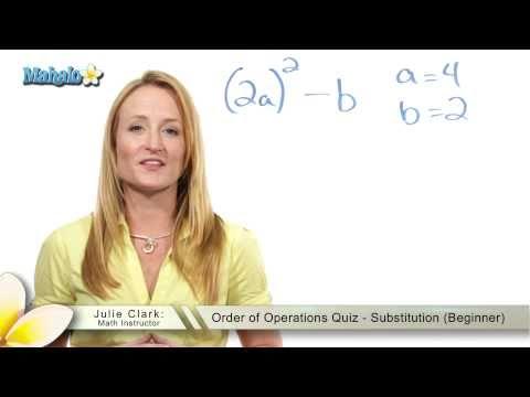 Order of Operations Quiz - Substitution (Beginner)