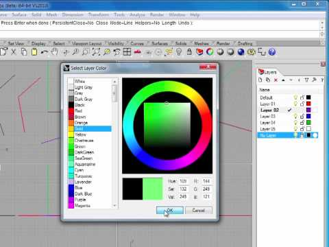 Rhino 5 Tutorial | Working with Layers | InfiniteSkills Training