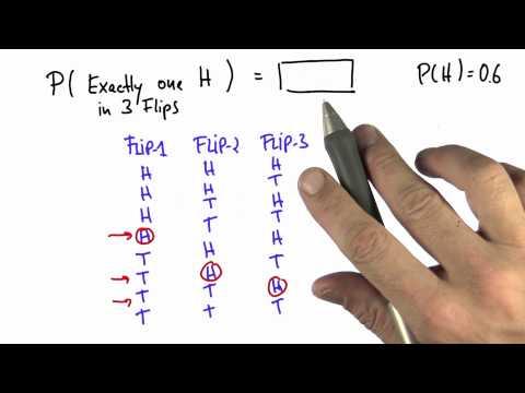 One of Three 2 - Intro to Statistics - Probability - Udacity