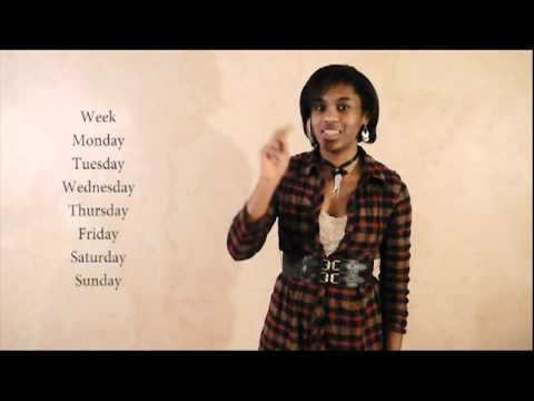 Sign Language 101: Days of the Week