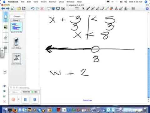 Solving Inequalities with addition  algebra1 notes