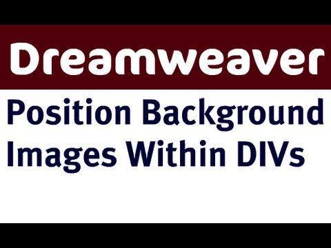 Position Background Images within DIVs in Dreamweaver
