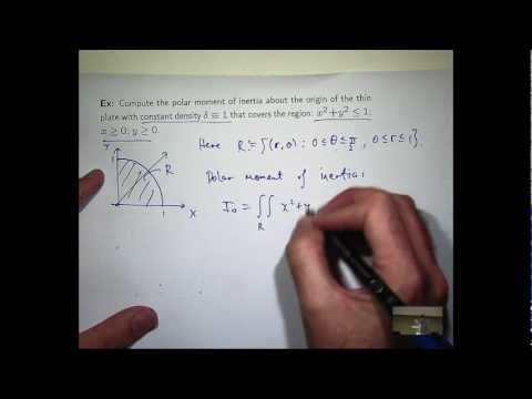 Polar co-ords, double integral example
