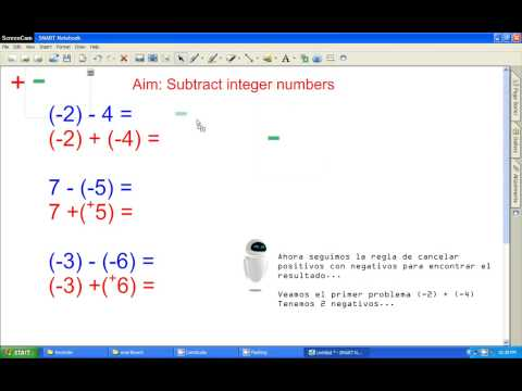 Subtracting Integer Numbers Basic Method