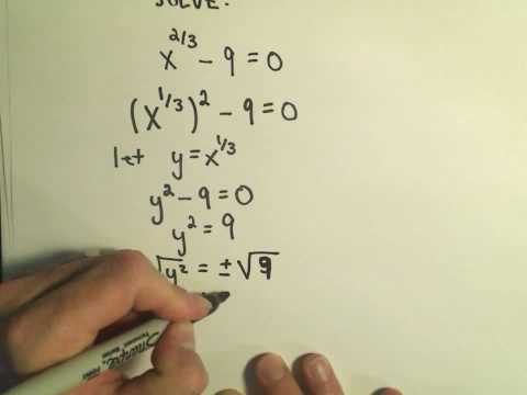 Solving Fancy Quadratics - Example 2
