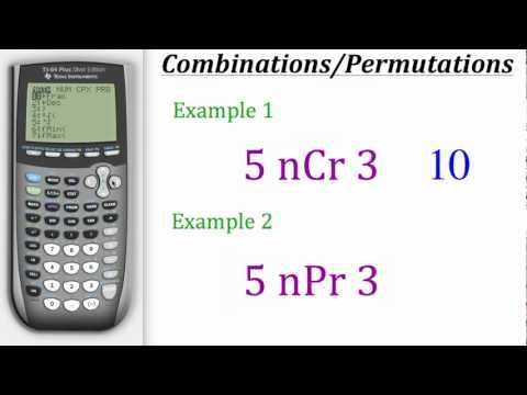 TI Calculator Tutorial: Combinations & Permutations