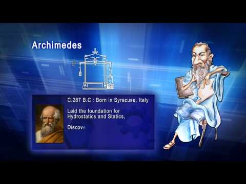 Top 100 Greatest Scientist in History For Kids(Preschool) - ARCHIMEDES