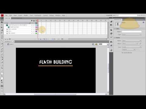 Part 1 Flash CS4 CS5 CS5.5 Full Website Template: Load bar and Intro tutorial