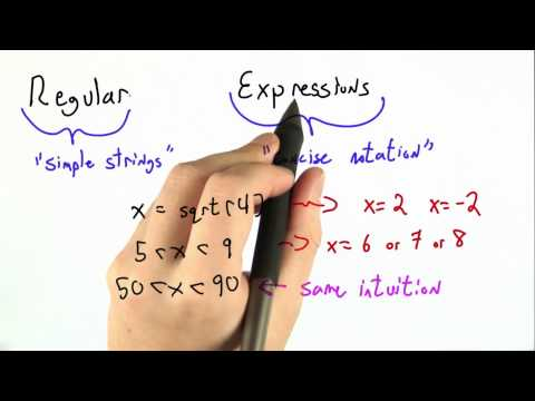 Regular Expressions - CS262 Unit 1 - Udacity