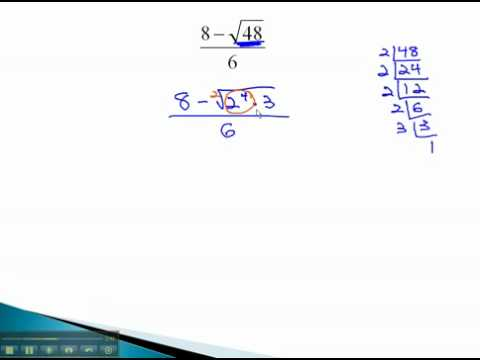 Rationalize Denominators - Simpilfy with Radicals