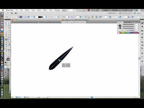 Using the Width Tool in Adobe Illustrator CS5