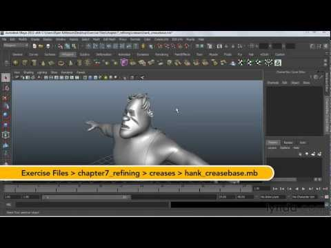 Working with creases and hard edges in Maya | lynda.com tutorial