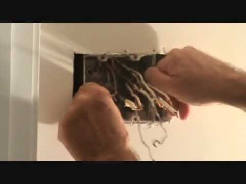 Removing a 2 gang electrical light switch box