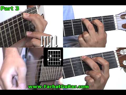 Yellow submarine Beatles Guitar lesson Part 3  www.FarhatGuitar.com