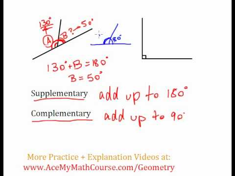 Supplementary & Complementary Angles