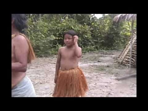 This is a family in the Amazon, yagua indian family - snake bite