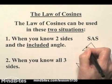 Trig: Applying Law of Cosines, Law of Sines, 310