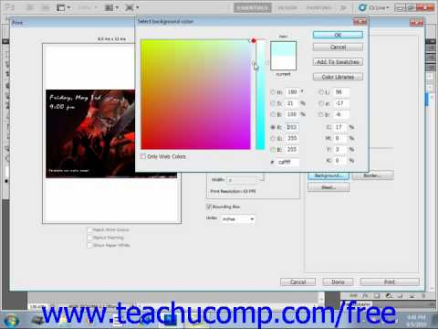 Photoshop CS5 Tutorial Setting Printing Options Adobe Training Lesson 16.2