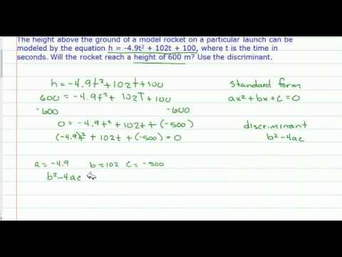 The Discriminant - Applications