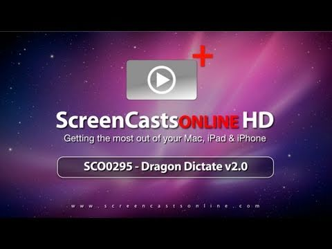 SCO0295 - Trailer - Dragon Dictate for Mac Tutorial