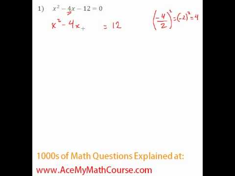 Solving by Completing the Square #1