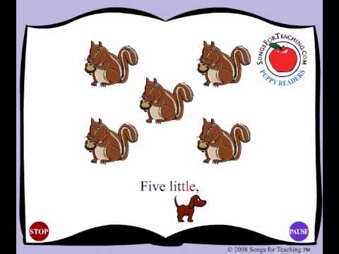 Ten Little Chipmunks Song Animation for Kids
