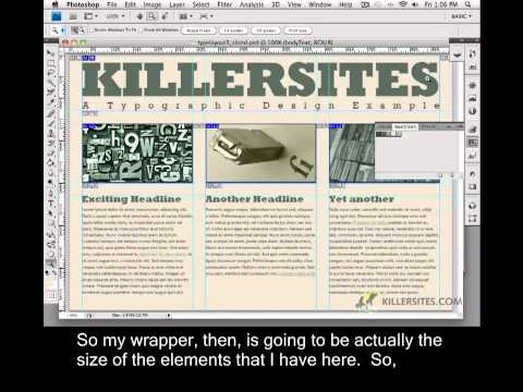 Photoshop for the Web Closed Captioned - Header Div