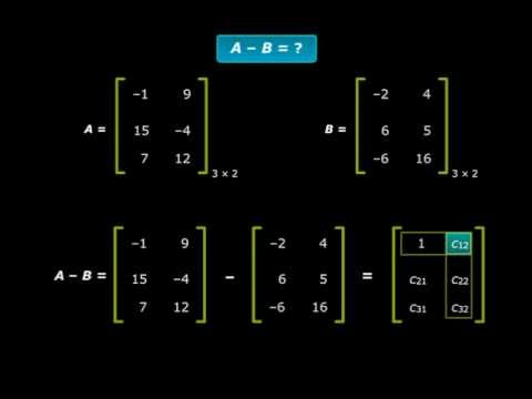 Subtracting Matrices - Class XII Math Chapter 3 Matrices Solution of Subtracting Matrices Tutorials