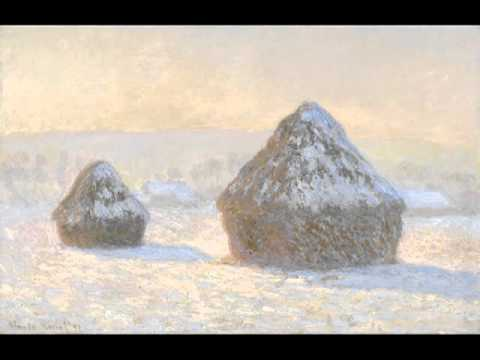 Wheatstacks, Snow Effect, Morning, Claude Monet