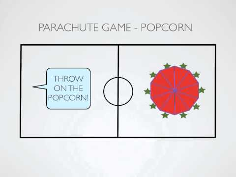 Physical Education Games - Parachute Game: Popcorn