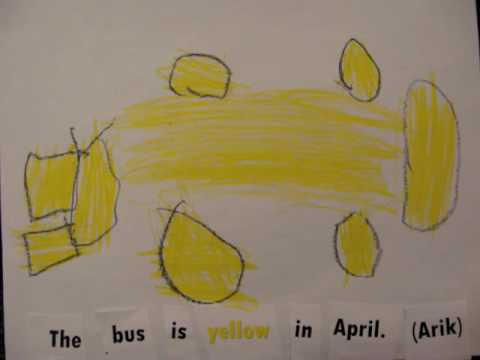 "Yellow Sentences-  ""The ________ is yellow in April."""