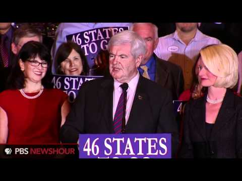 Watch Newt Gingrich's Speech After Second-Place Florida Primary